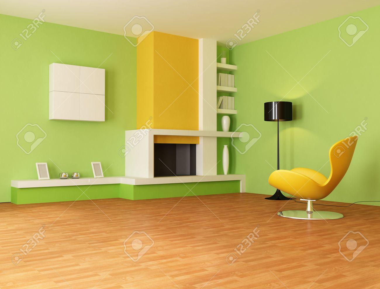 Orange Yellow Green Living Room Yes Yes Go - Orange living room design