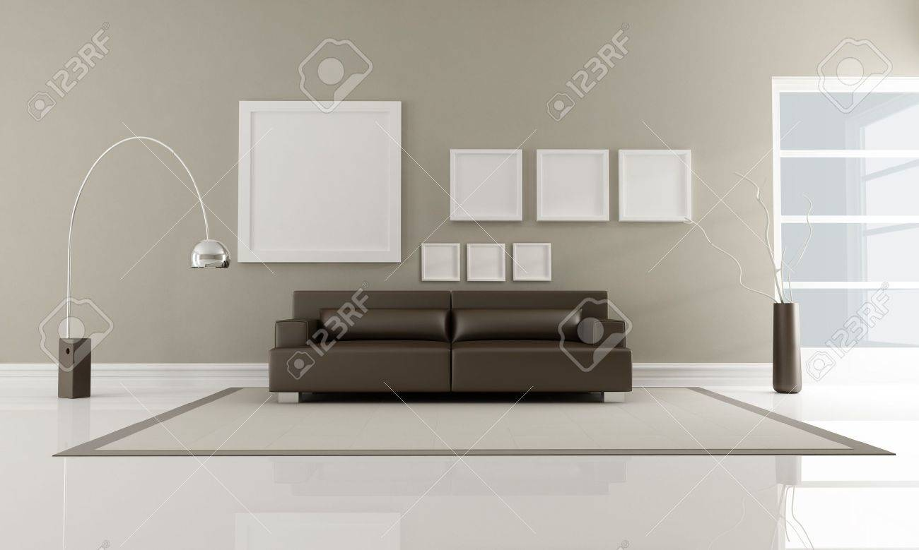 Modern Brown Leather Couches