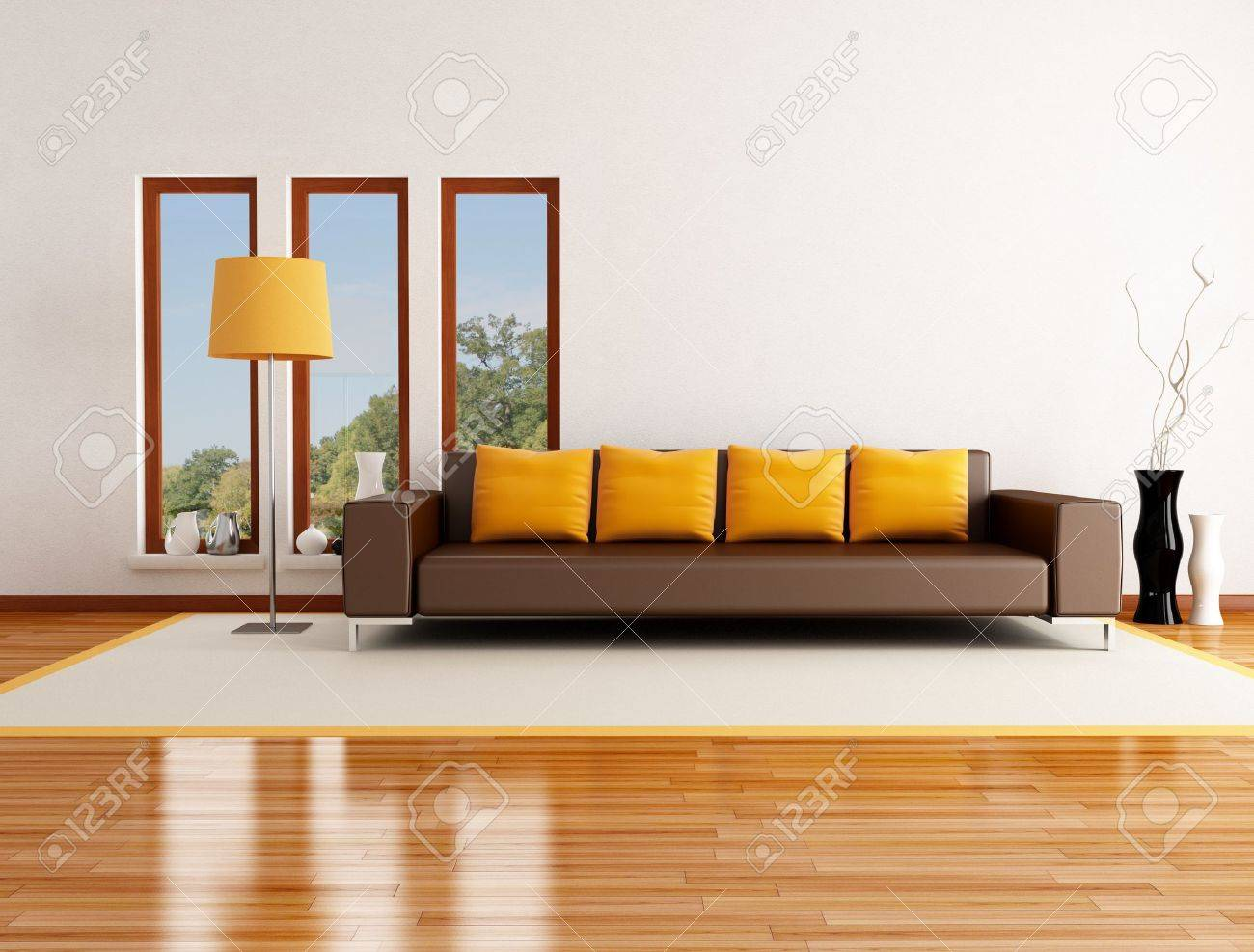 Modern Living Room In A Country House   Rendering   The Image On Background  Is A Part 53