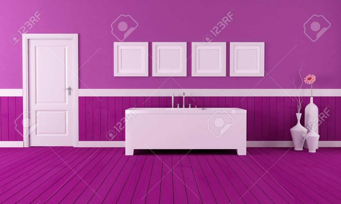 Vasca Da Bagno Retro : Immagini stock minimalista vasca da bagno in un bagno retrò con