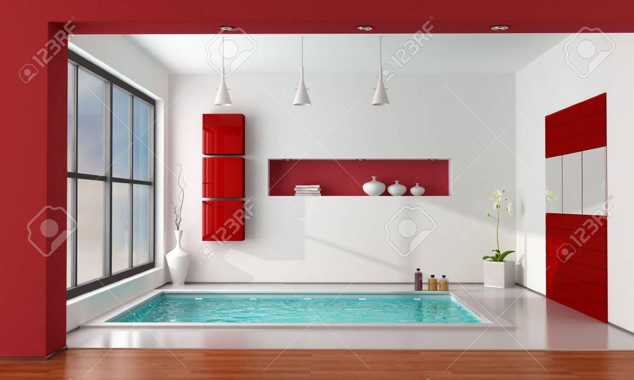Cuarto De Baño Minimalista De Lujo Ingenio Gran Bañera - La ...