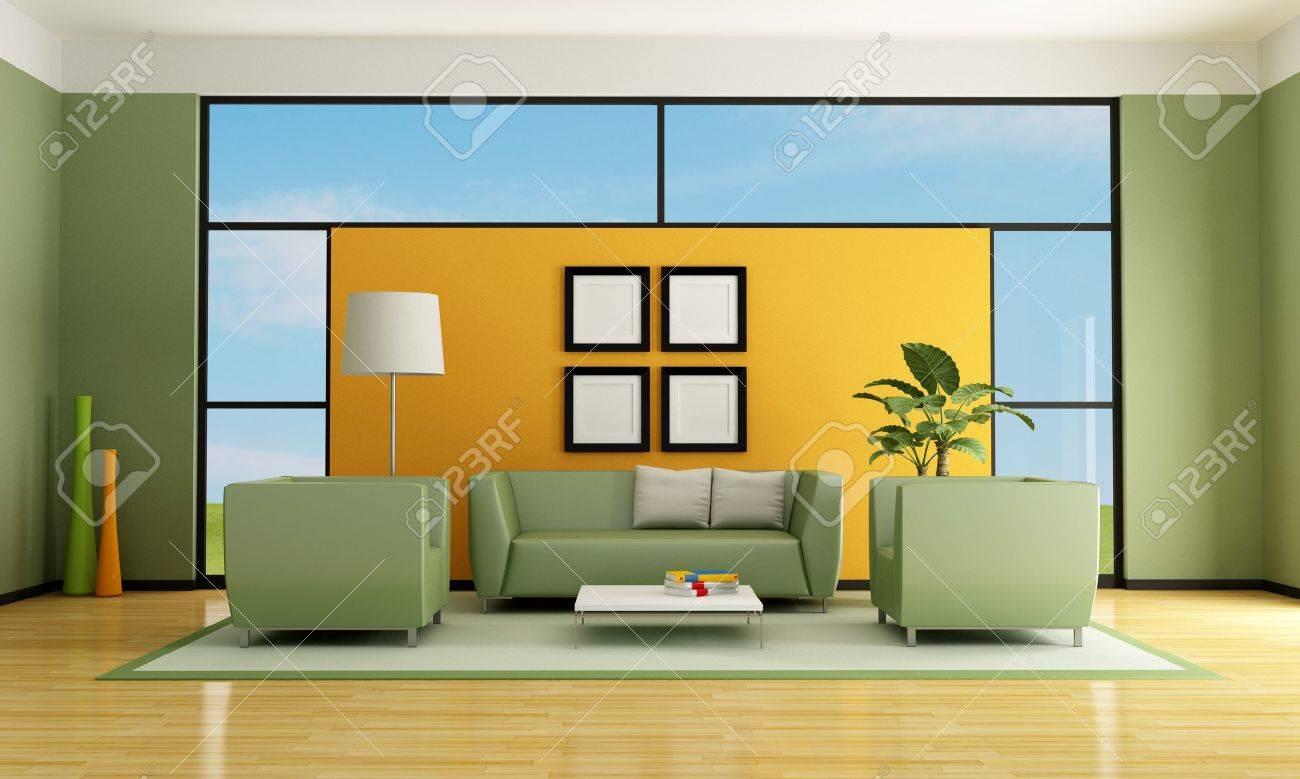 Astounding Sofa Grün Referenz Von Grün Und Orange Wohnzimmer Mit Und Sessel