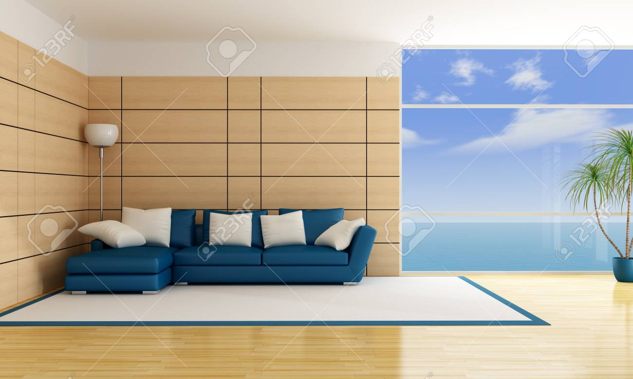 minimalist luonge of an holiday villa - rendering Stock Photo - 12326617