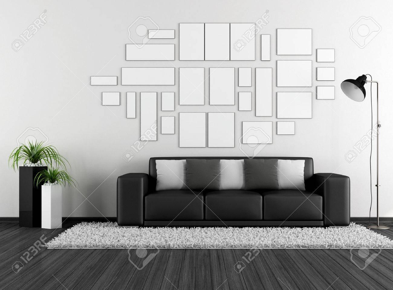 Schwarz-Weiß-Wohnzimmer Lizenzfreie Fotos, Bilder Und Stock ...