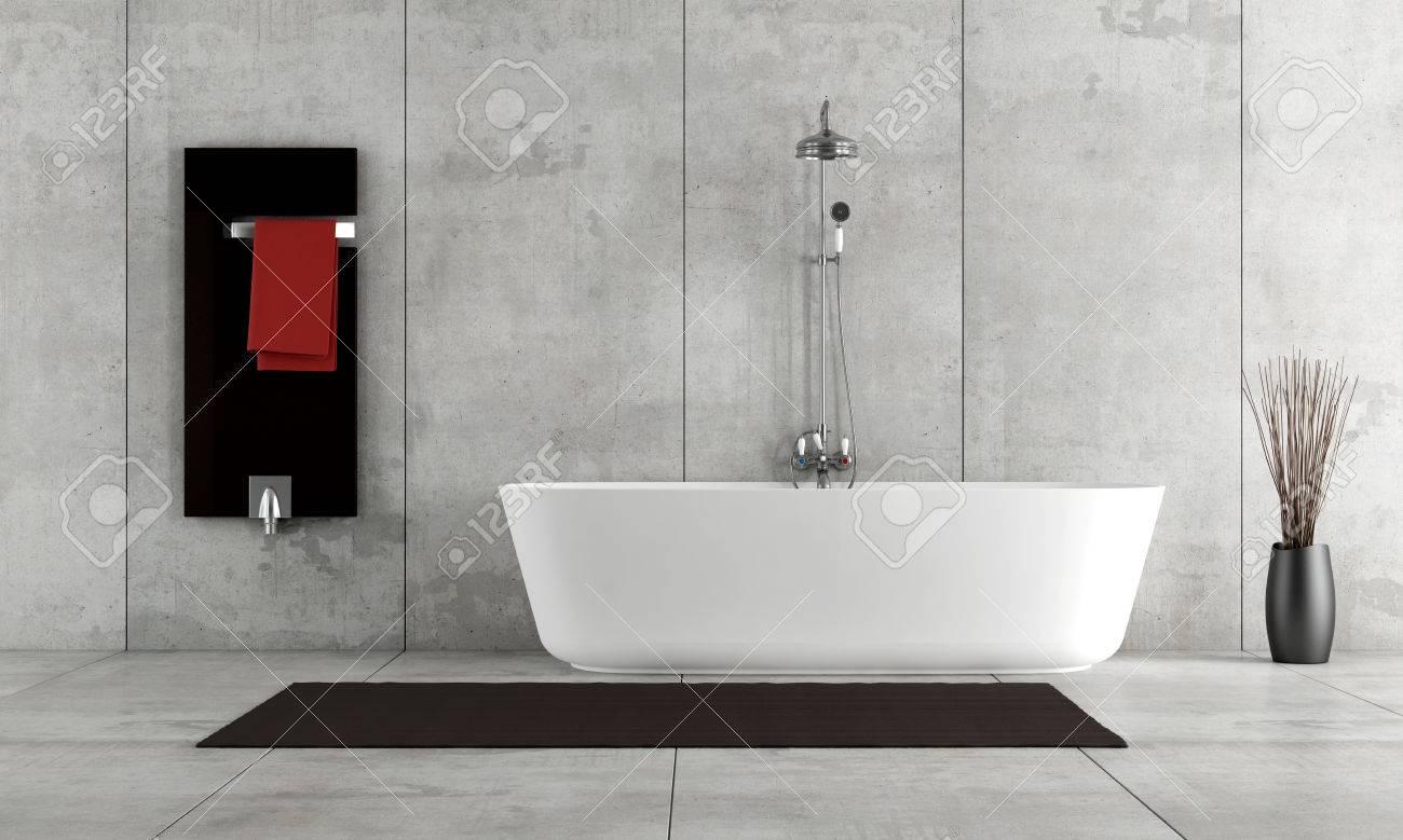 Cuarto De Baño Minimalista Con Bañera Y Ducha - La Prestación Fotos ...