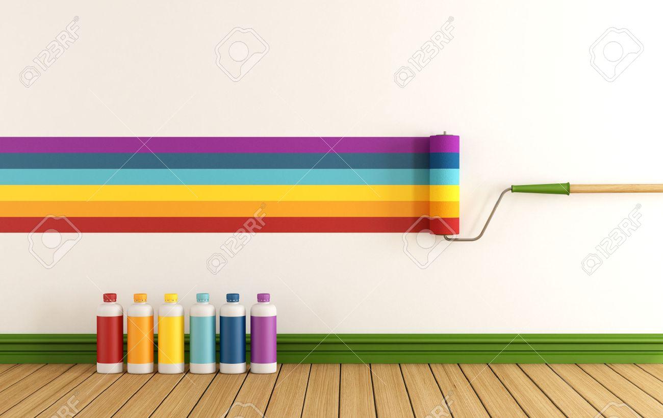 Seleccione La Muestra De Color Para Pintar La Pared En Una ...