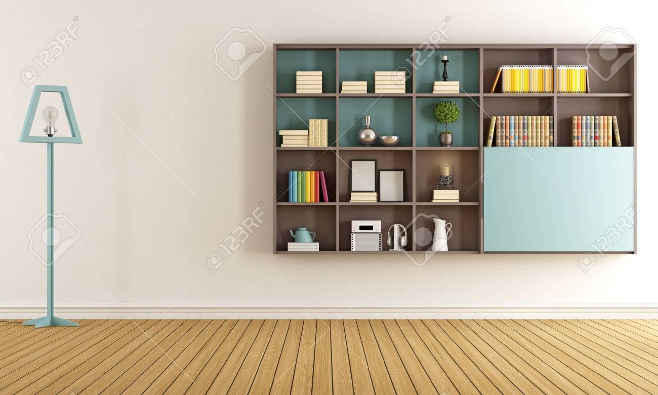 Salon Avec Bibliothèque Moderne Banque D\'Images Et Photos Libres De ...