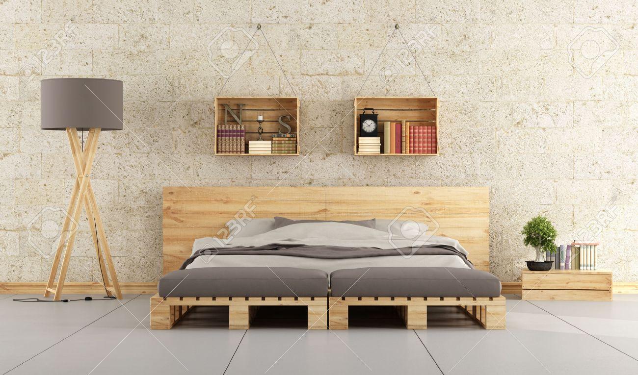 testiera letto fai da te con bancali: mensola in legno fai da te