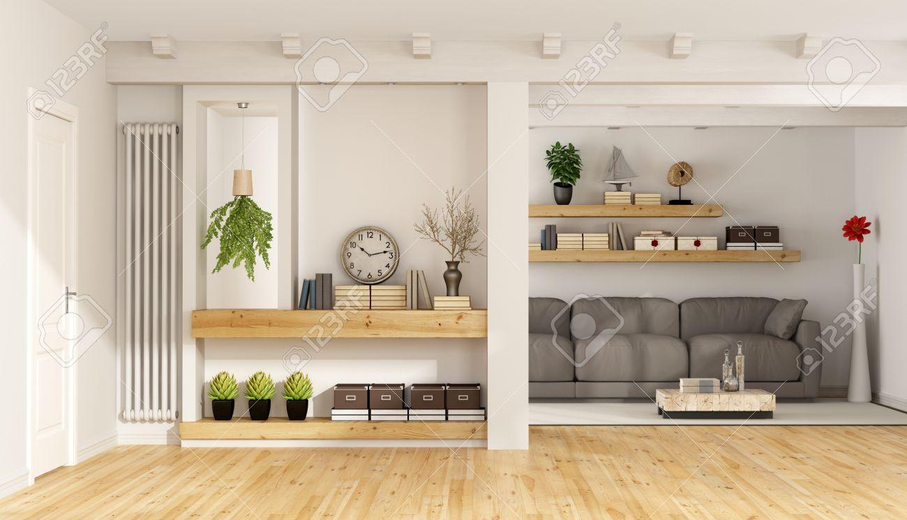 Controsoffitto Con Travi In Legno : Soffitto con travi in legno bianco: come rinnovare un tetto in legno