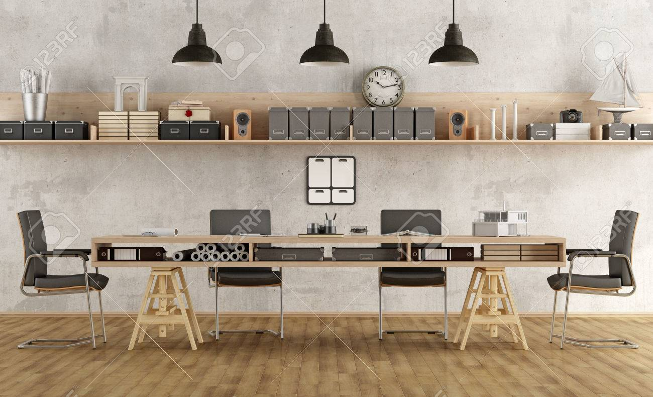 Architecture or engineering boardroom with in minimalist style- 3d rendering - 56999218