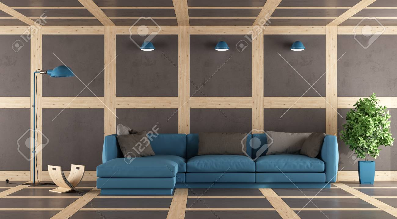 Image of: Contemporary Living Room With Wall Floor And Ceiling In Concrete Stock Photo Picture And Royalty Free Image Image 57225924