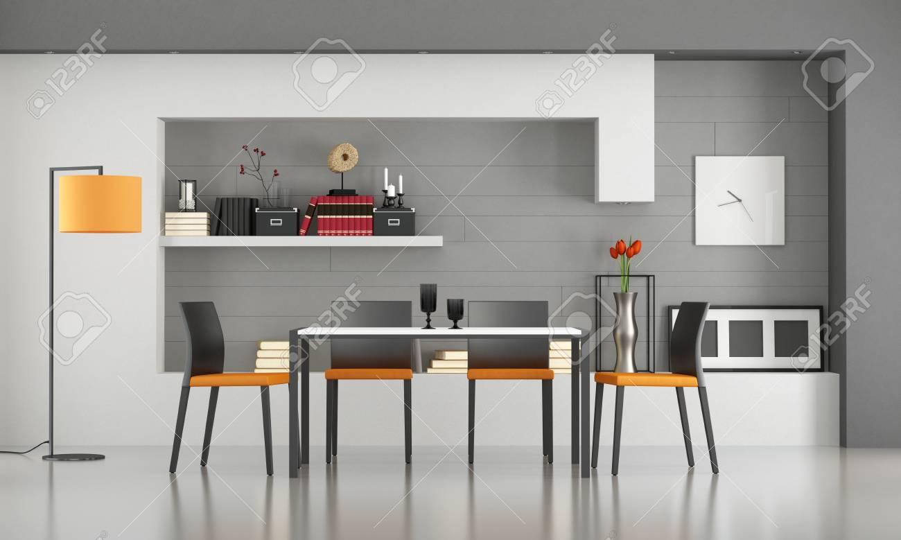Ansprechend Moderne Stuehle Esszimmer Dekoration Von Mit Minimalistischem Tisch Und Stühle - 3d-rendering
