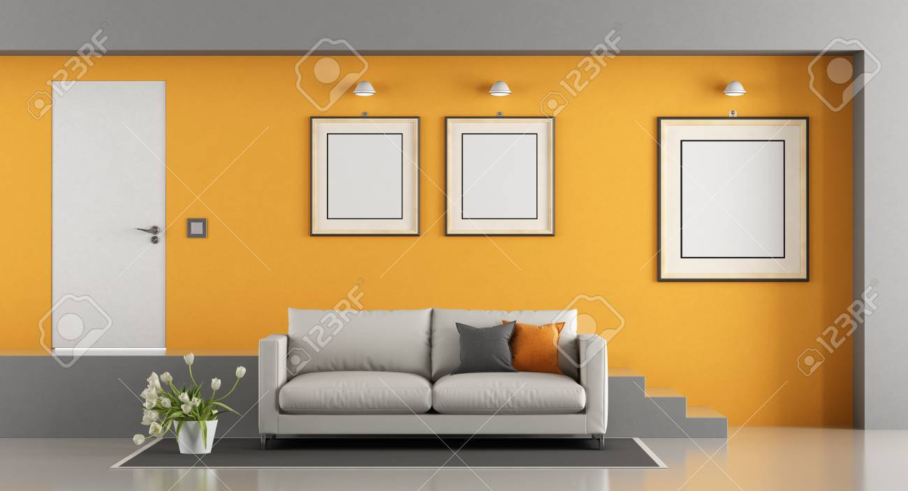 Admirable Contemporary Two Level Living Room With Sofa Stair And Front Cjindustries Chair Design For Home Cjindustriesco