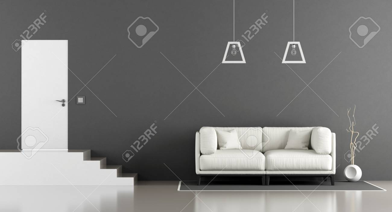 Magnificent Minimalist Two Level Living Room With Sofa Stair And Front Door Cjindustries Chair Design For Home Cjindustriesco