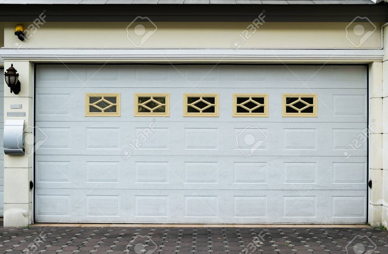 Garage Door With Ventilator Stock Photo Picture And Royalty Free
