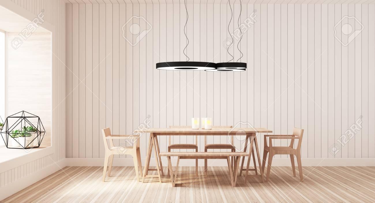 Sala Da Pranzo Moderna Immagini : Sala da pranzo moderna e semplice rendering 3d foto royalty free