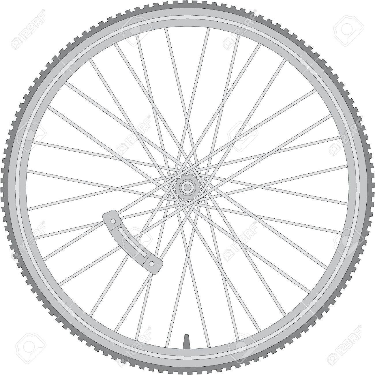 detailed bicycle wheel Stock Vector - 9438322