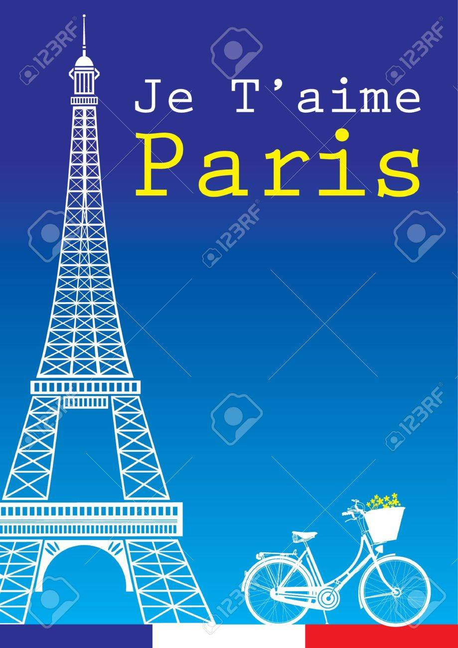 bicycle and Eiffel Tower Stock Vector - 15514799