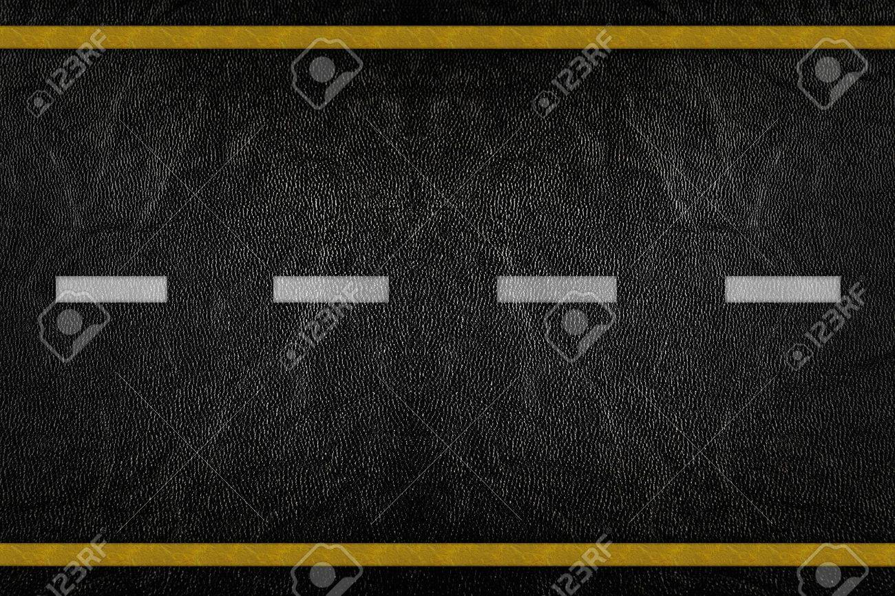 Pattern on road texture with yellow and white stripe Stock Photo - 9972214