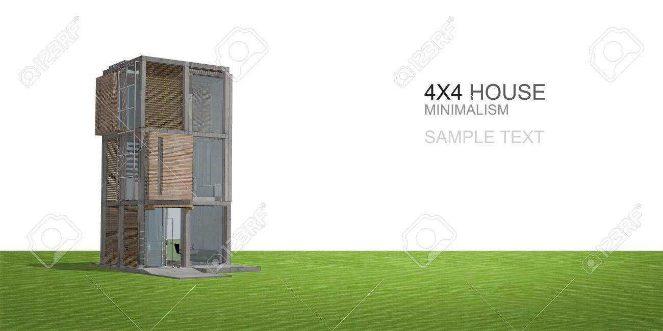 Sketchup Proposal 3d Model Of The House Stock Photo Picture And
