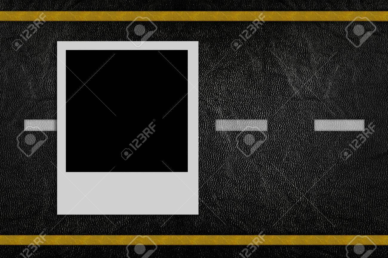 Blank photo on road pattern background Stock Photo - 10515083