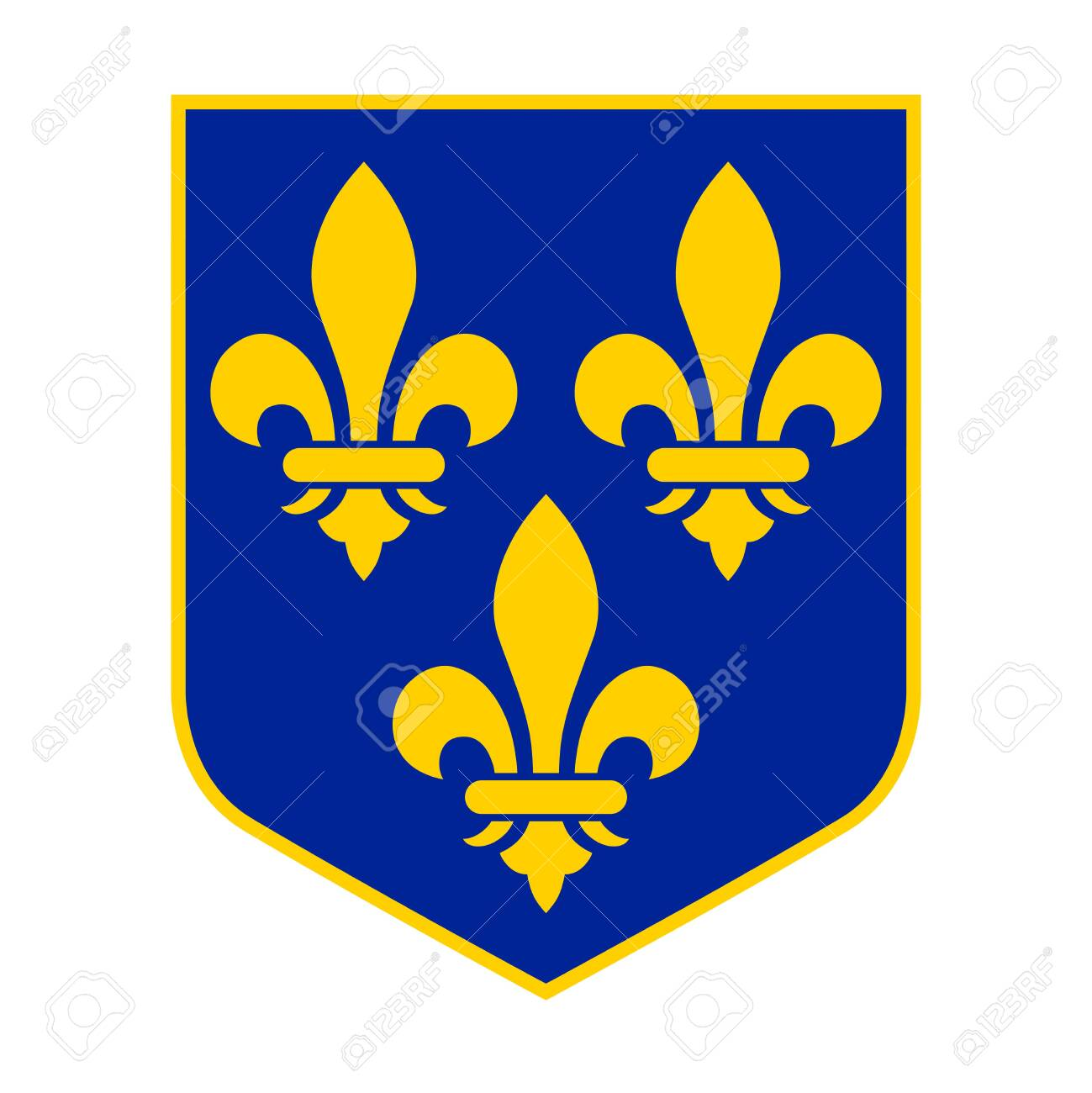 Historical Royal Coat Of Arms Of France Lily A Symbol Of The