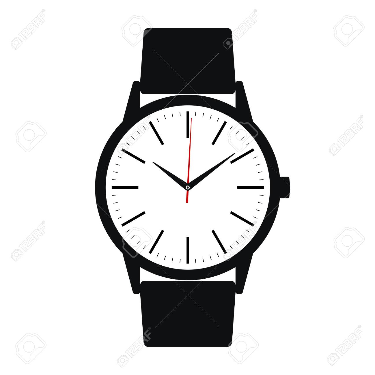 Wrist Watch Icon Symbol Watch With Band Isolated On White Background Royalty Free Cliparts Vectors And Stock Illustration Image 129793605