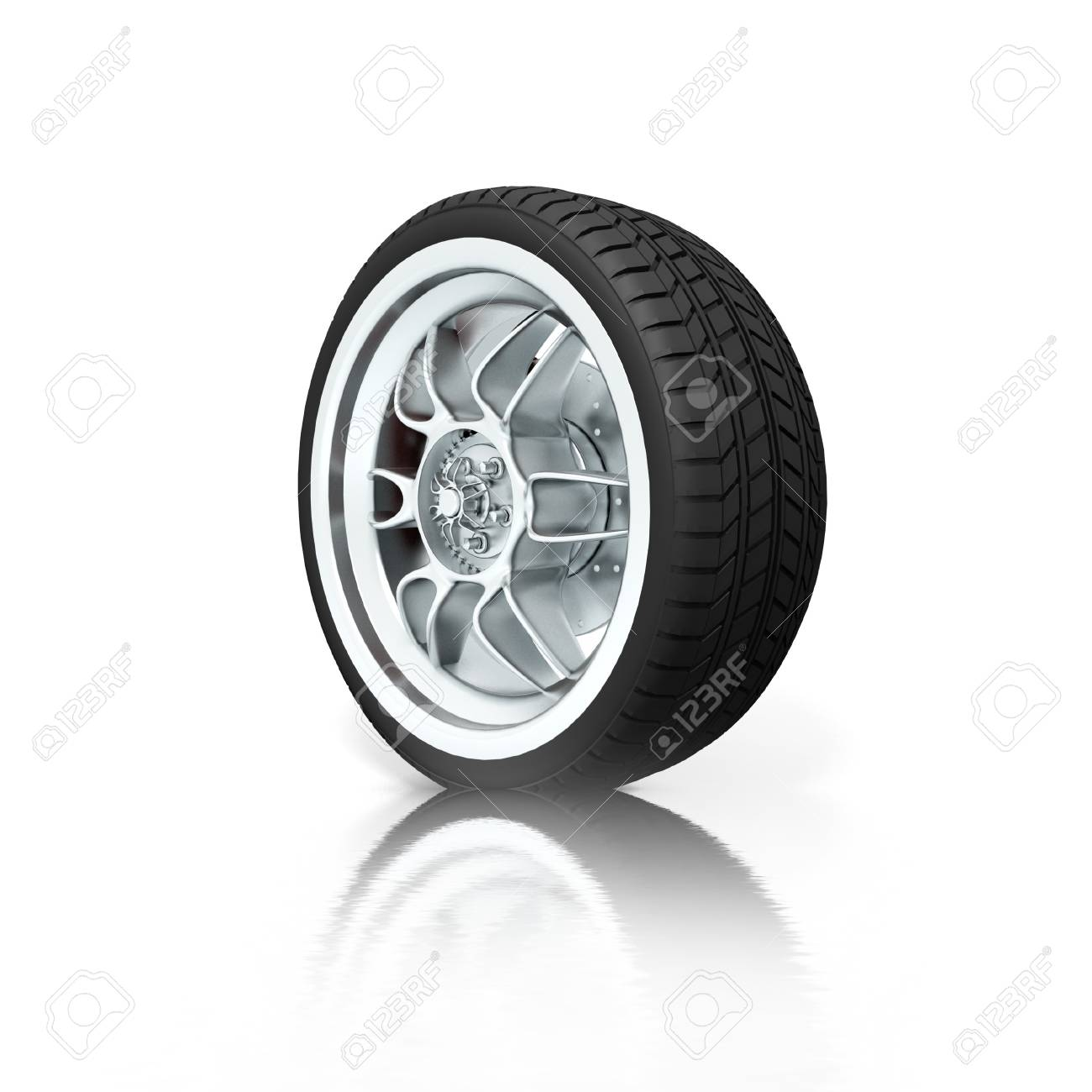 Isolated wheel on white background Stock Photo - 7324710