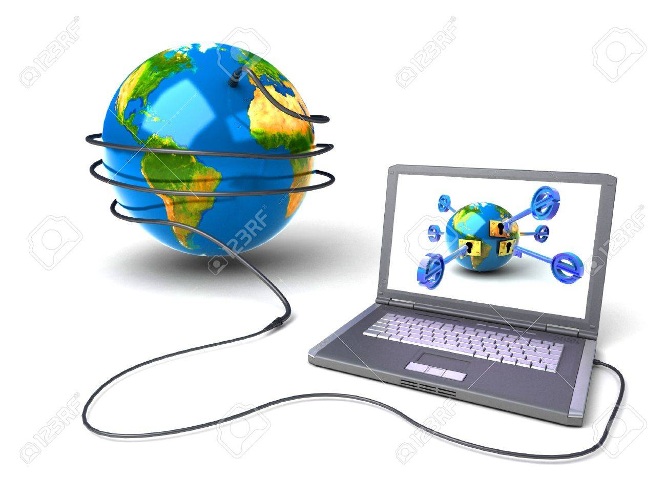 Global network the Internet Stock Photo - 7324654