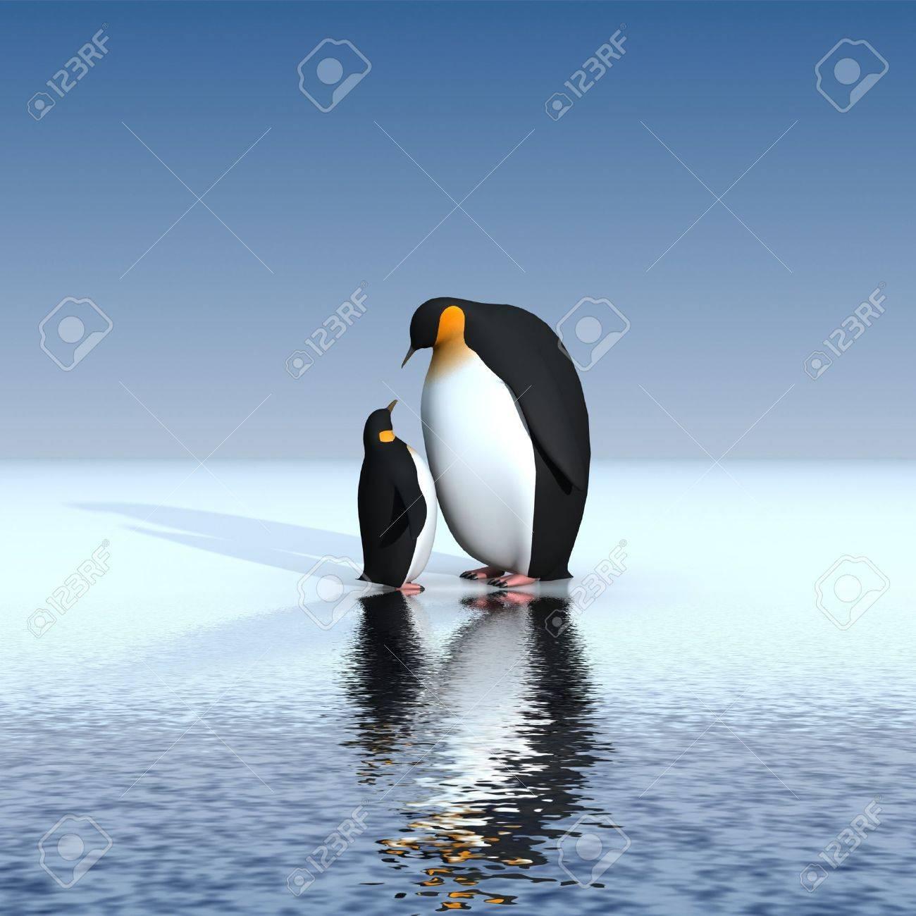 Fun penguins Stock Photo - 7324813