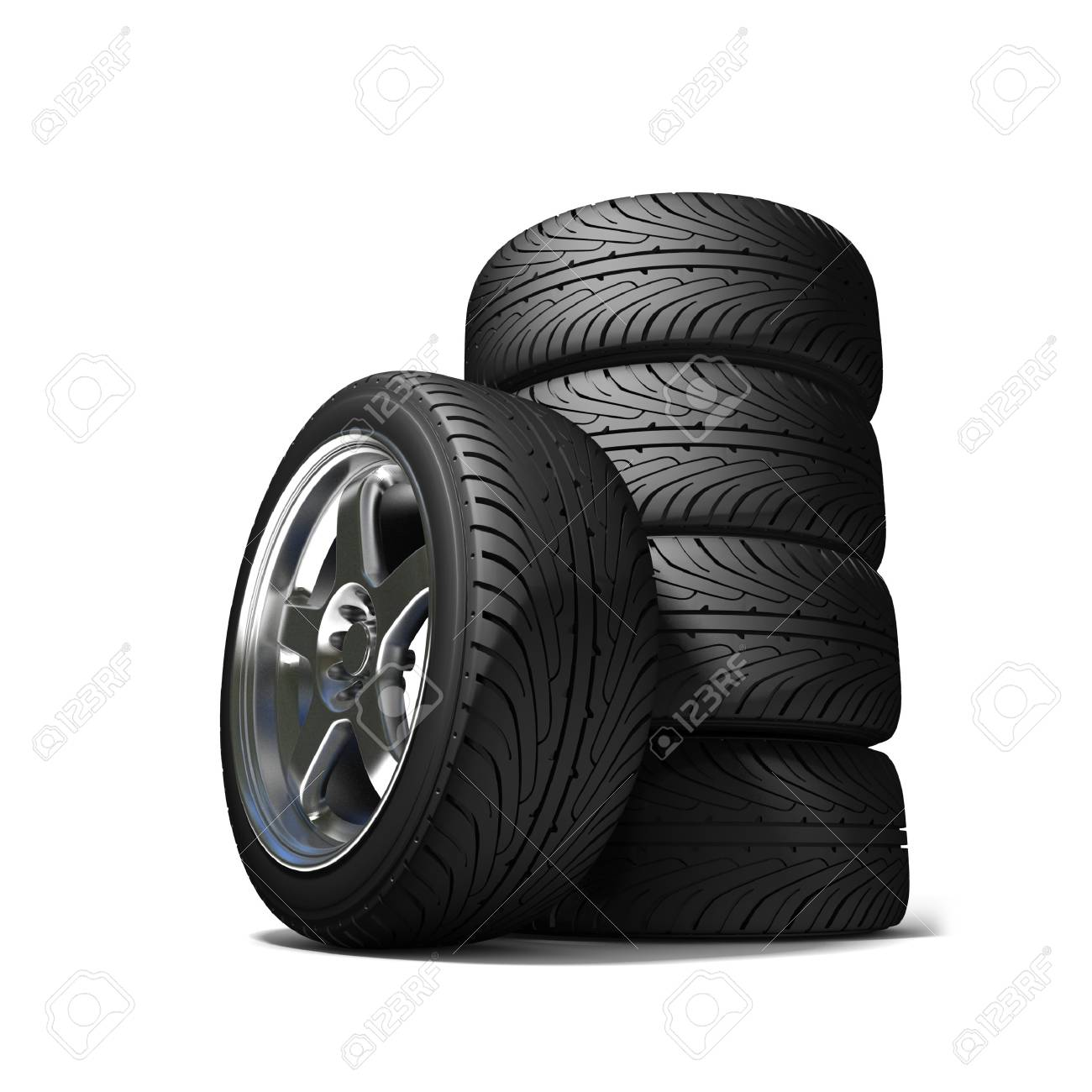 Wheels for the sports car Stock Photo - 7345545
