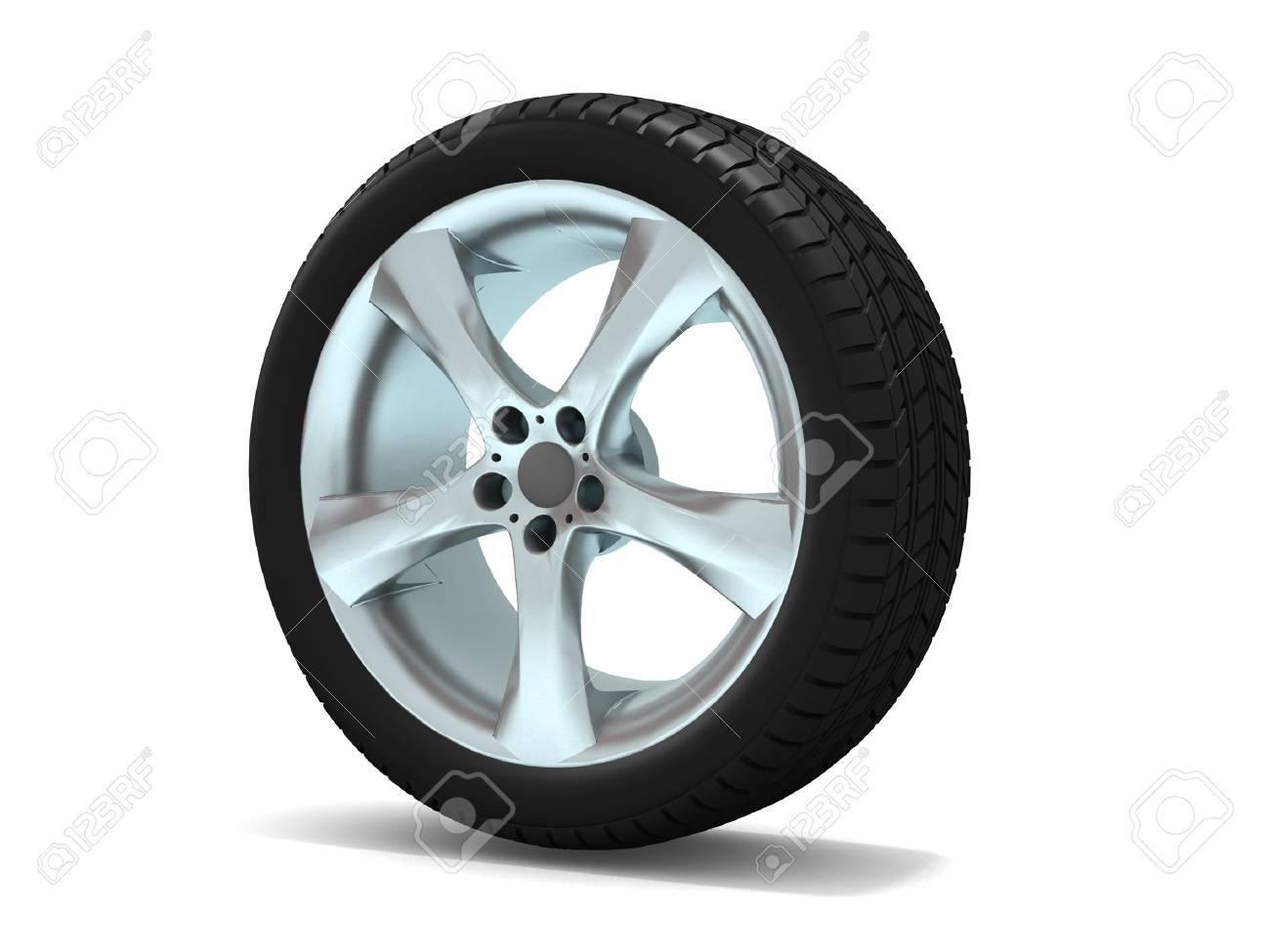 Wheels isolated on white. 3d illustration. Stock Photo - 11047158