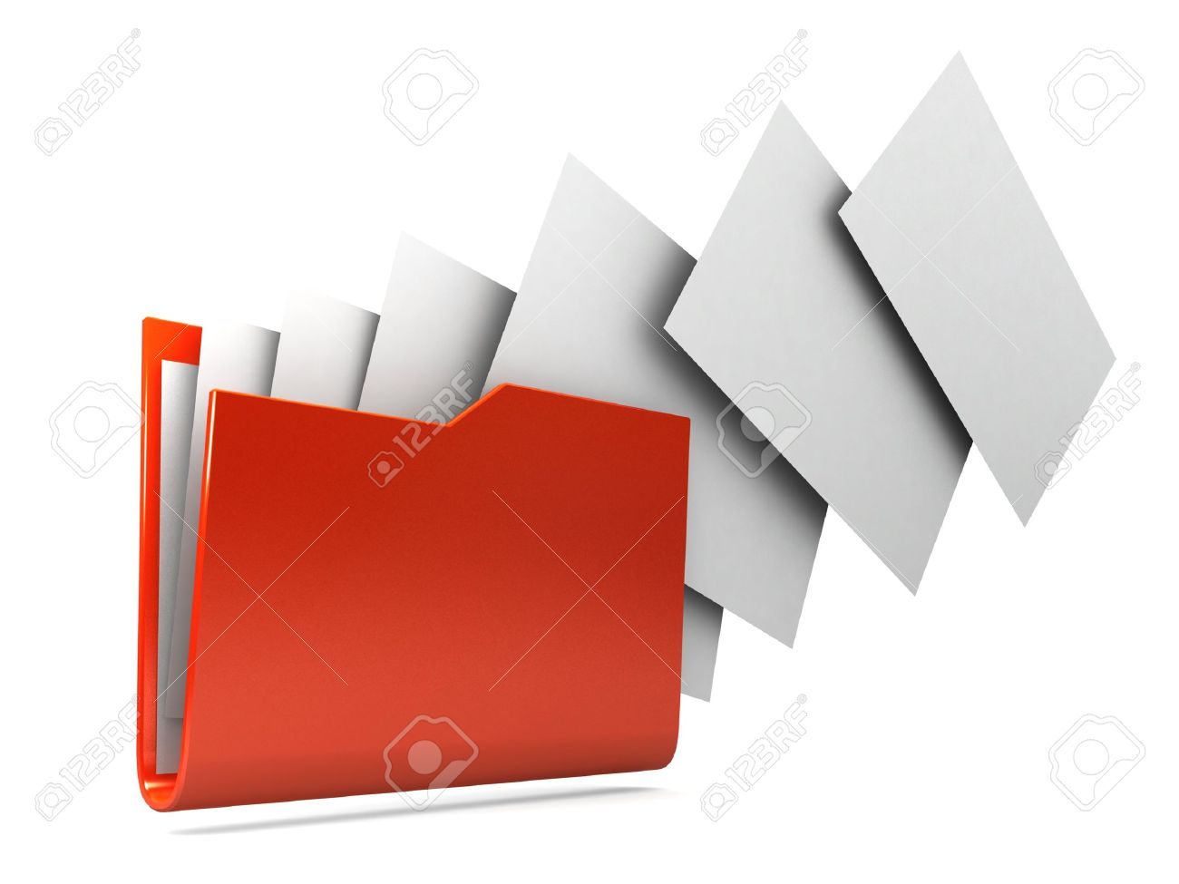 Uploading documents from folder. Stock Photo - 11047139