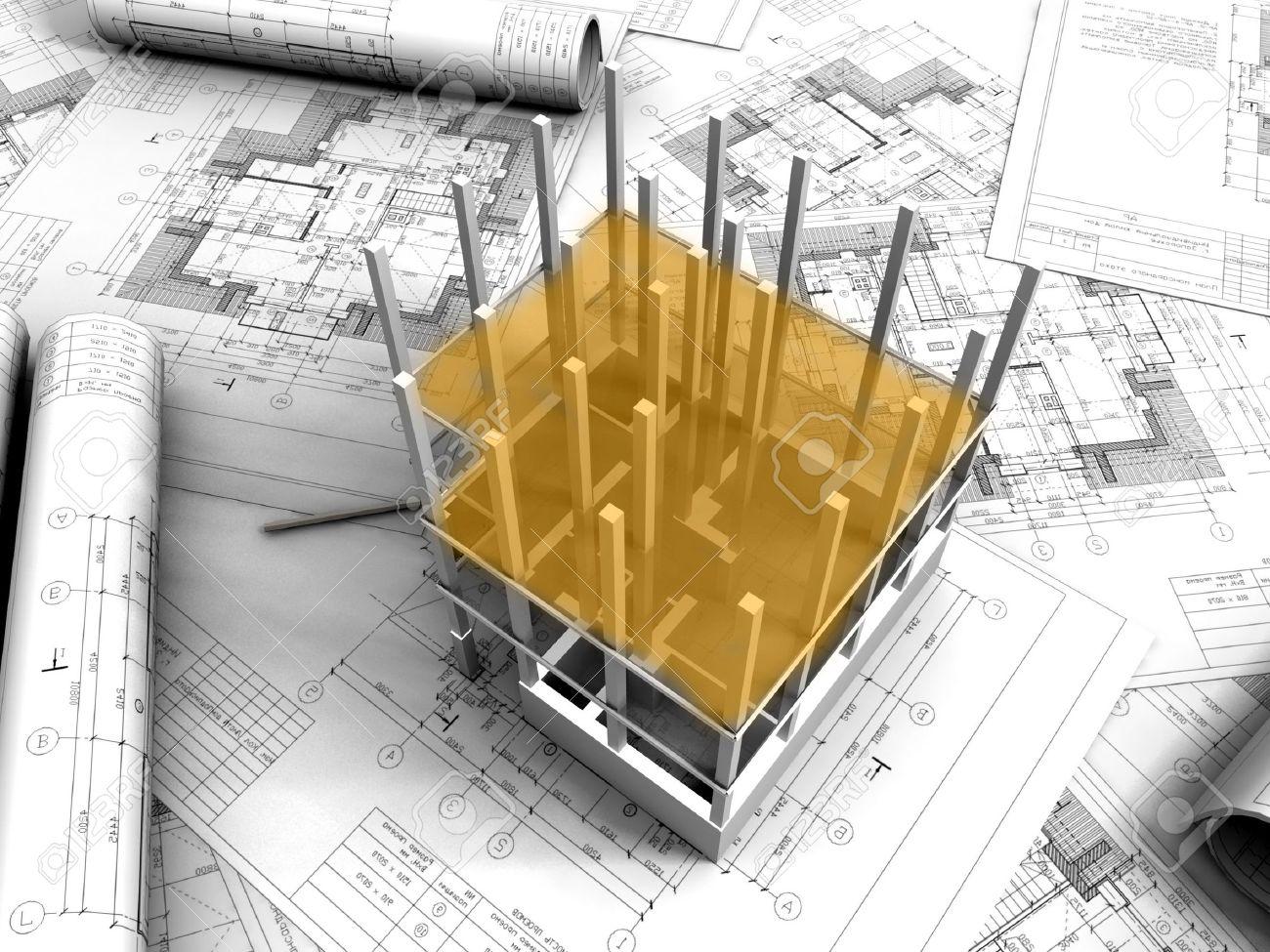3D plan drawing Stock Photo - 11325072