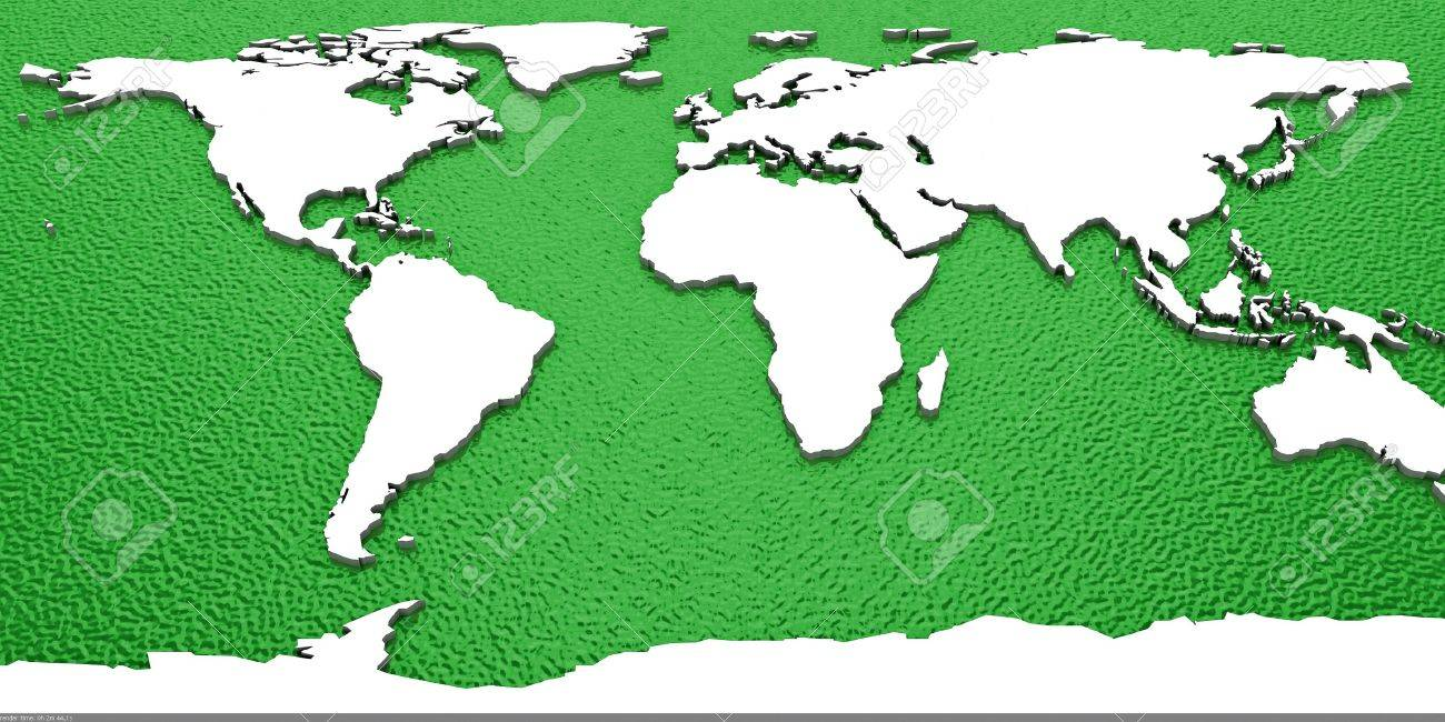 3d World Map Stock Photo - 11326262
