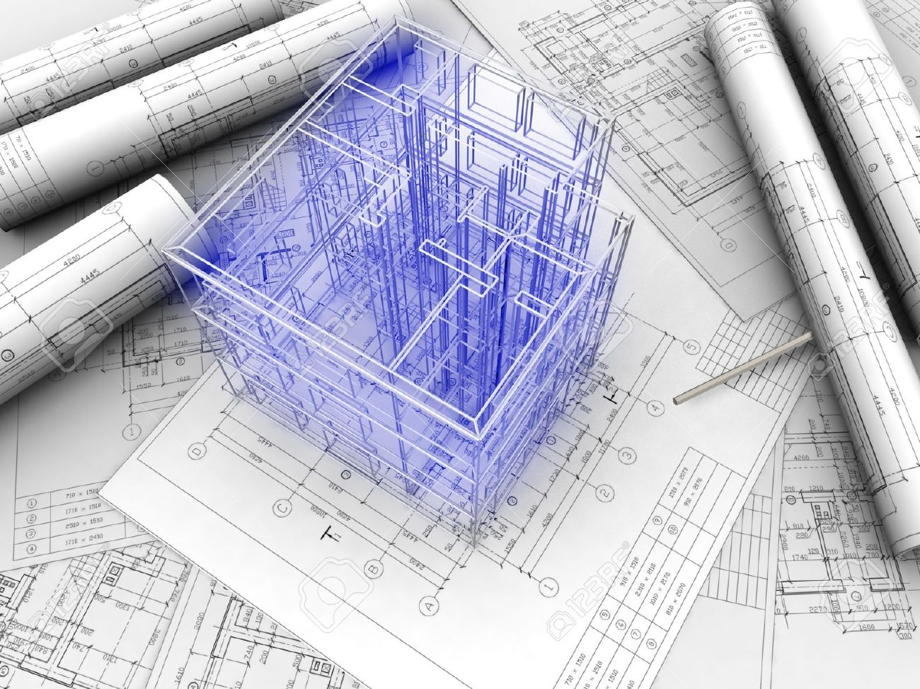 architecture blueprints 3d. Architecture Blueprints 3d Cad Architect Stock Photos. Royalty Free Images And E