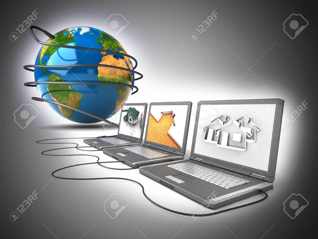 Global network Stock Photo - 11592742