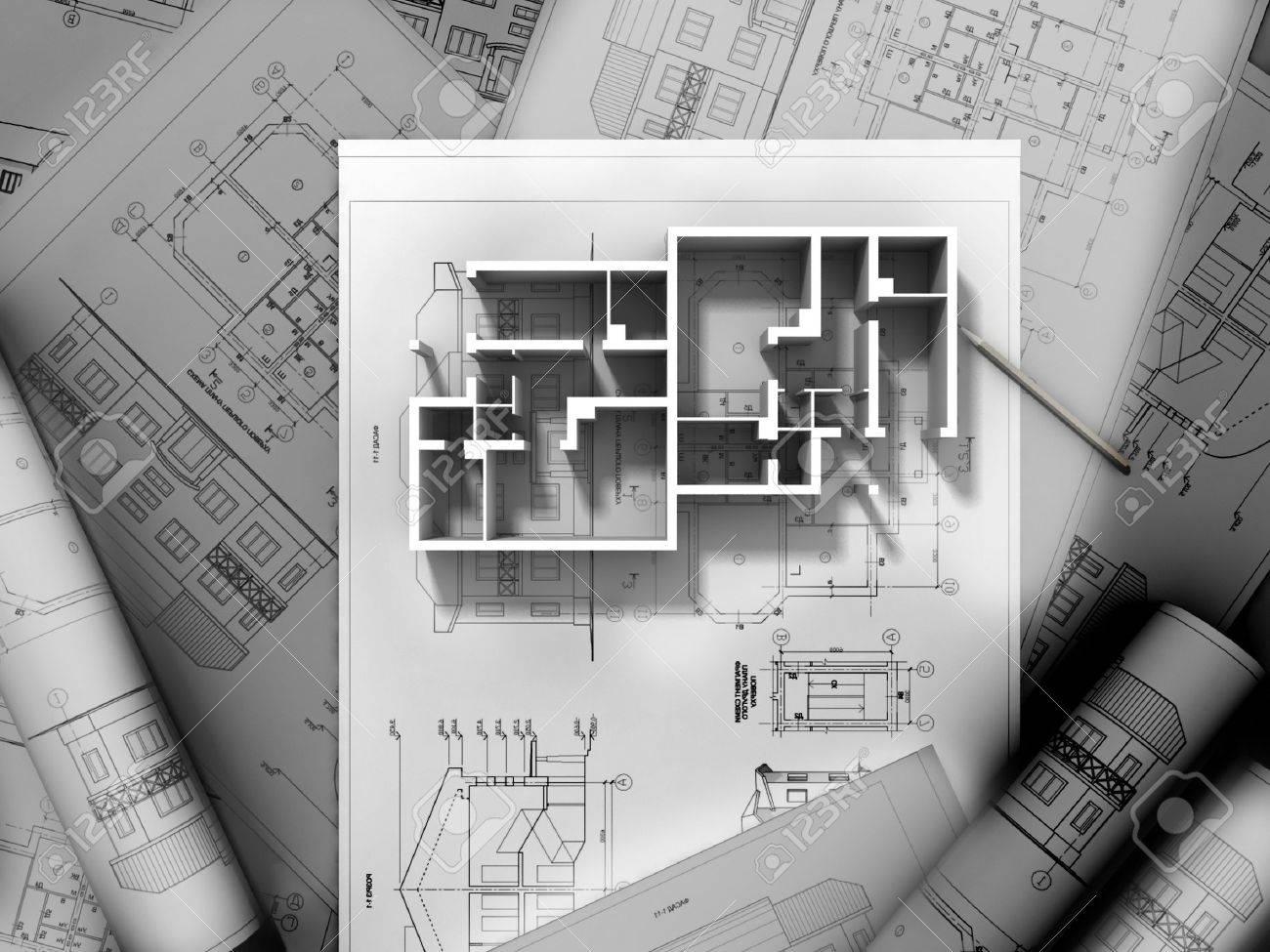 3D plan drawing Stock Photo - 11592780