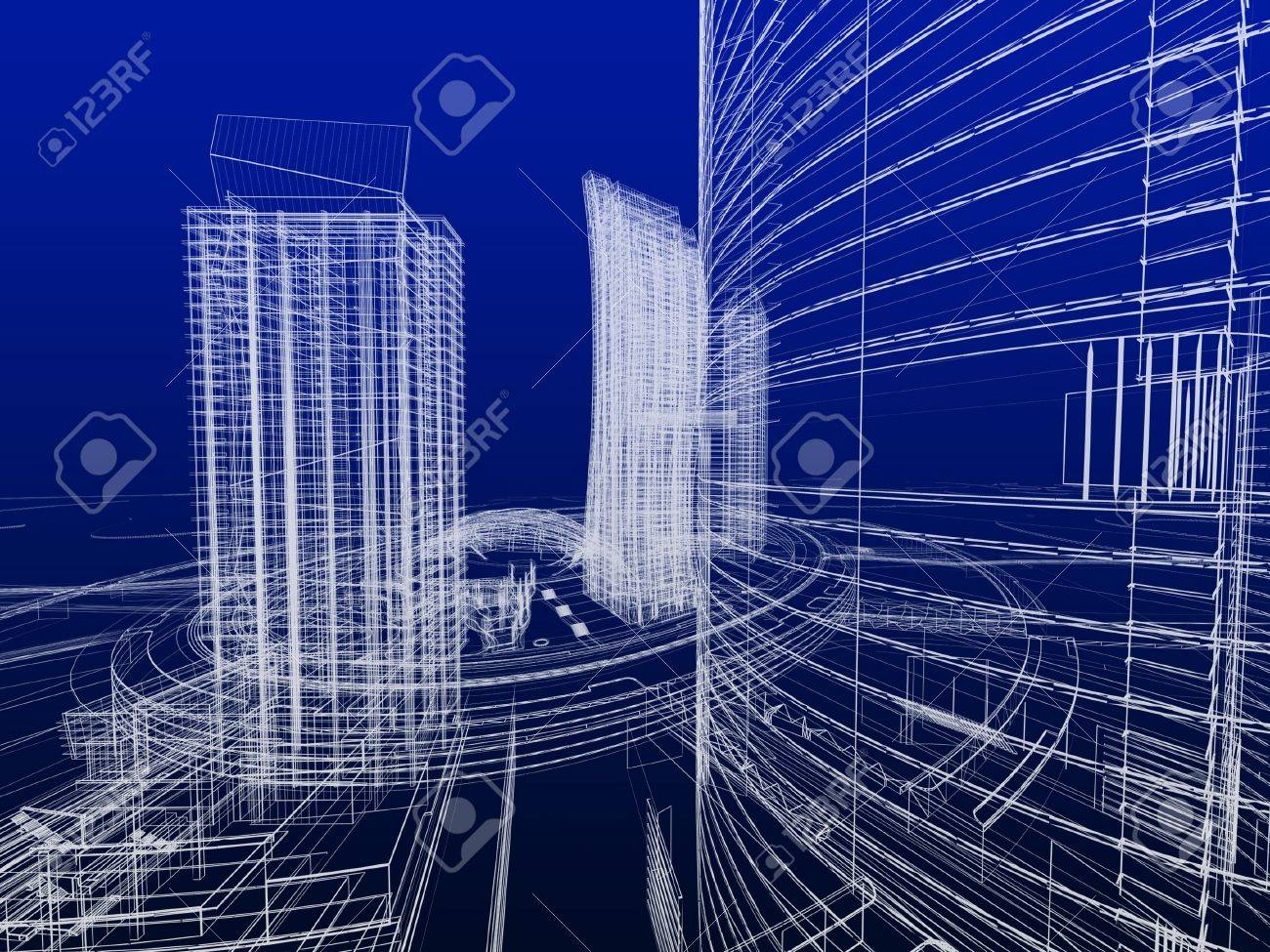 Abstract architecture Stock Photo - 12558491
