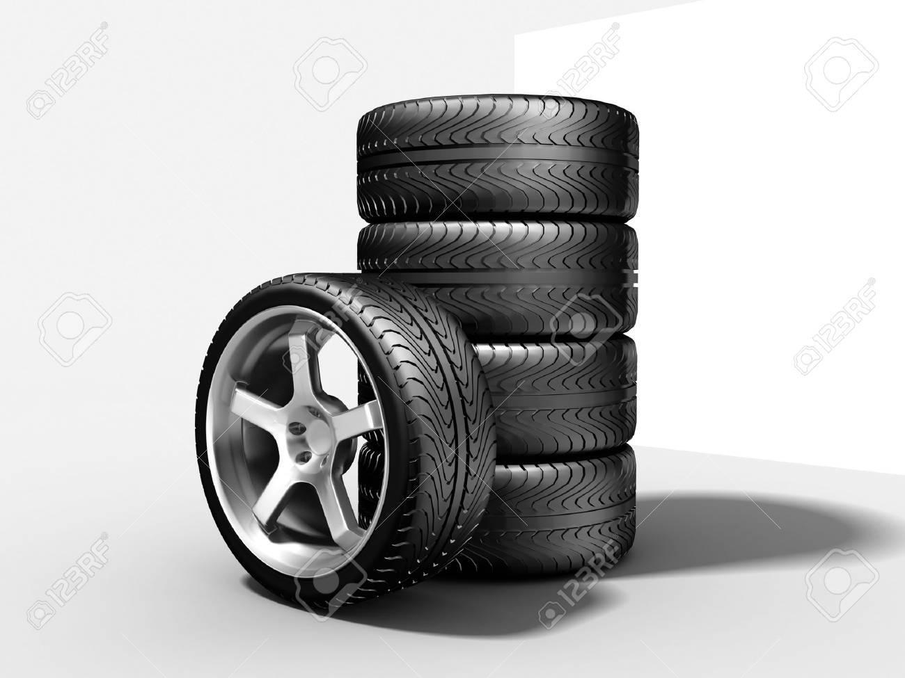 New wheels Stock Photo - 15218542