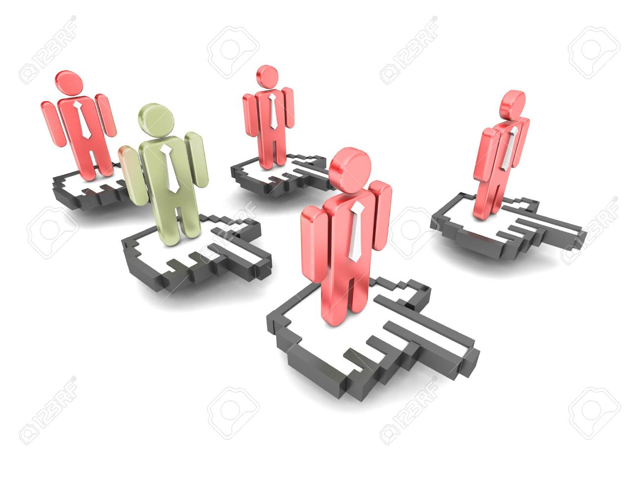 Online people concept Stock Photo - 17269918