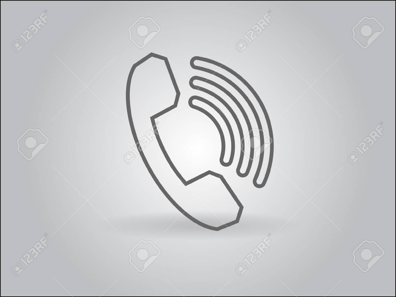 Flat icon of a phone Stock Vector - 29186700
