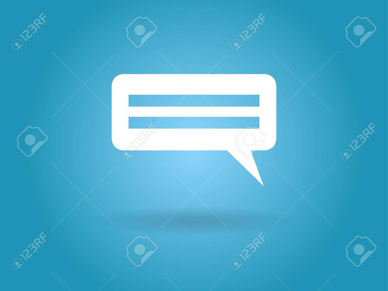 Flat  icon of a communication Stock Vector - 29186822