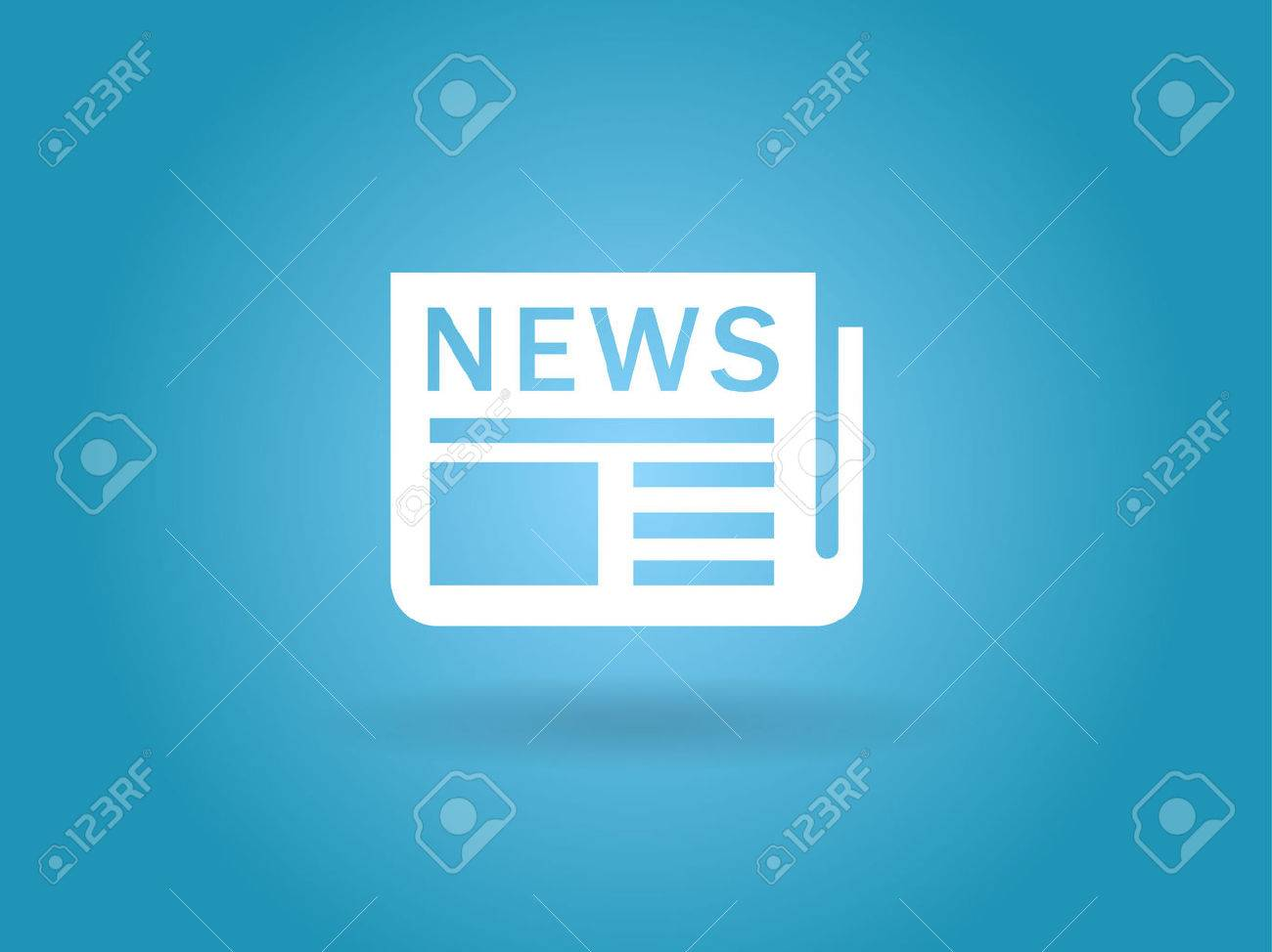 Flat  icon of news Stock Vector - 29187564