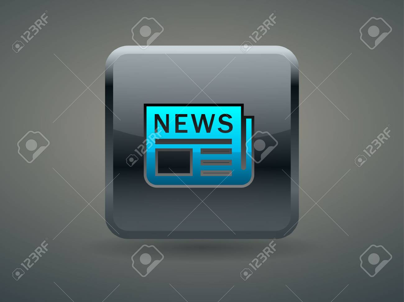 3d Vector illustration of news icon Stock Vector - 29188871