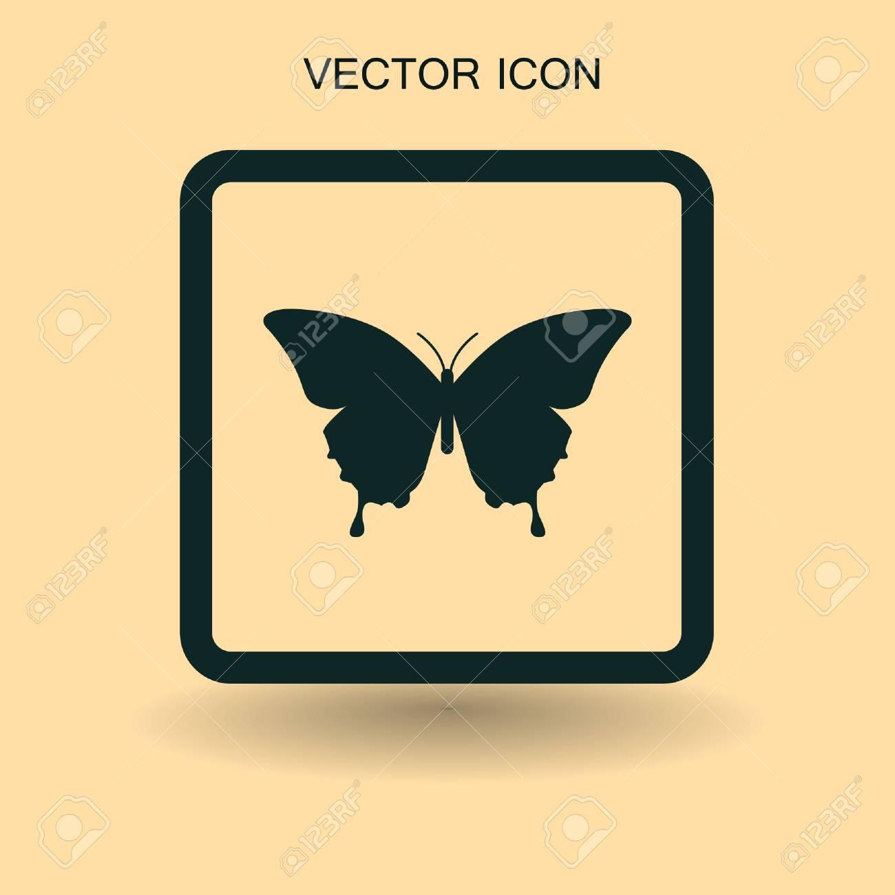 Mariposa Enmarcada Ilustración Vectorial Ilustraciones Vectoriales ...