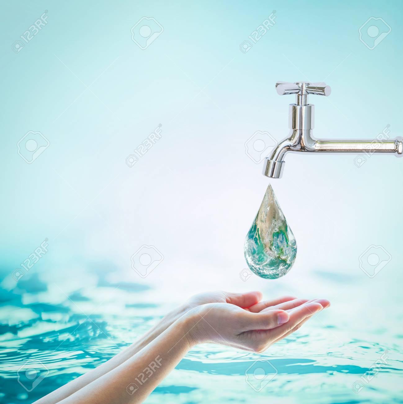 Saving water and world environmental protection concept - 112436634