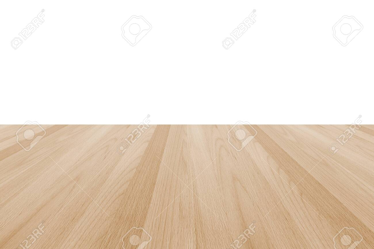 Wood floor texture in light cream beige brown color tone isolated on white wall background - 135657430