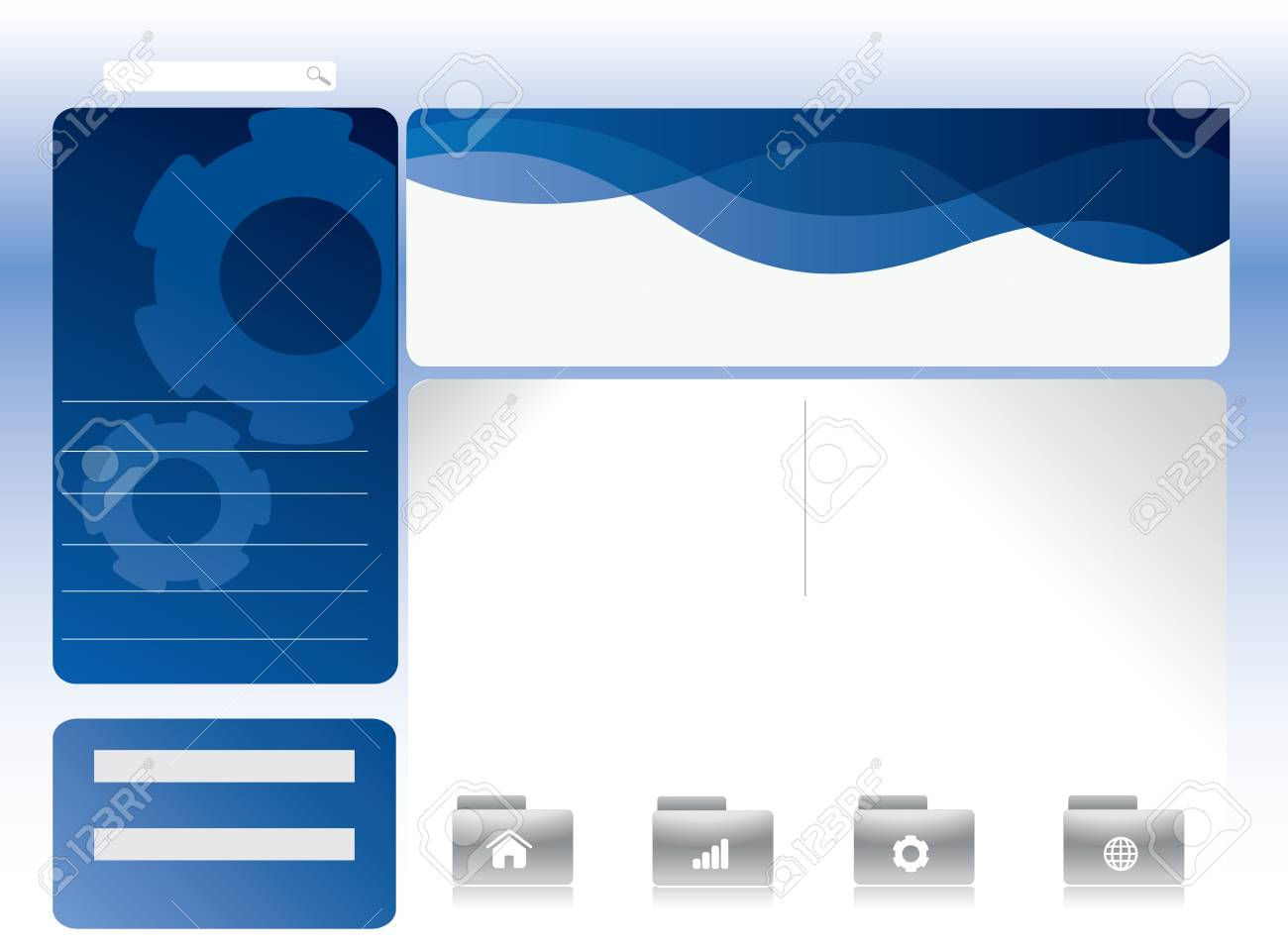 Blue website template in editable format Stock Photo - 7116431