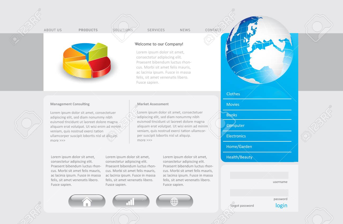 Business website template in editable format Stock Photo - 7215978